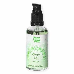 olio da massaggio cbd calmante rilassante e rilassante pura vida