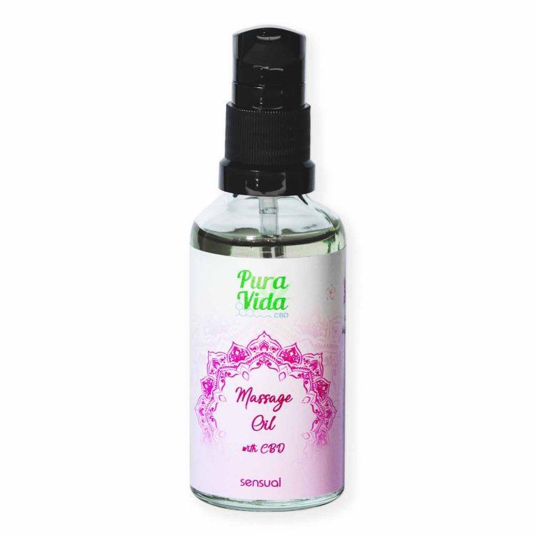 cbd massage oil sensual carnal pura vida