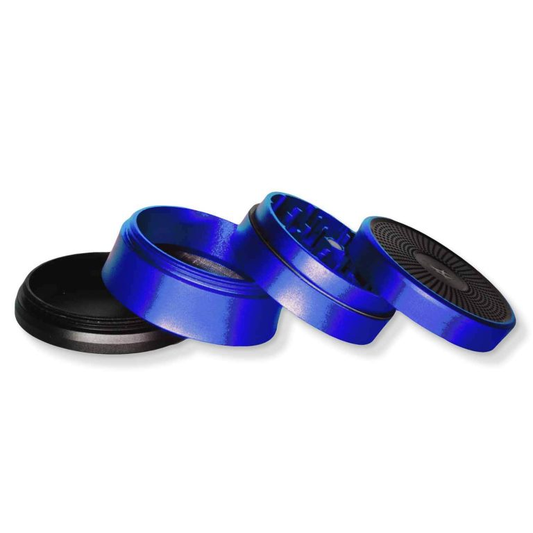 High-end Grinder Metal 4-stage Solinder Blue open