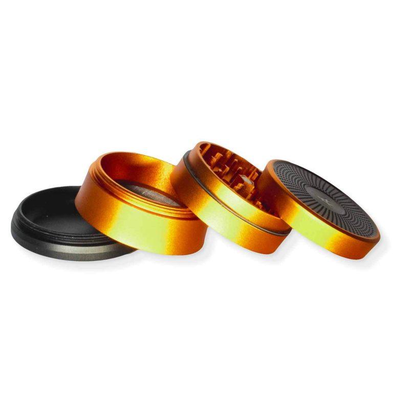 High-end Grinder Metal 4-stage Solinder Orange